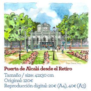 Puerta de Alcala desde el Retiro Madrid
