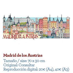 Madrid de los Austrias acuarela