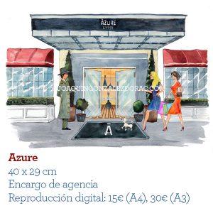 Ilustrador de Acuarela azure