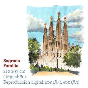 Acuarela Sagrada Familia
