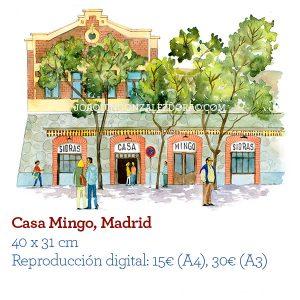 Acuarela Casa Mingo Madrid