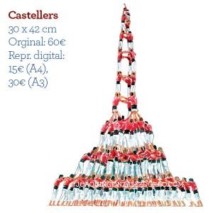 Ilustrador acuarela castellers