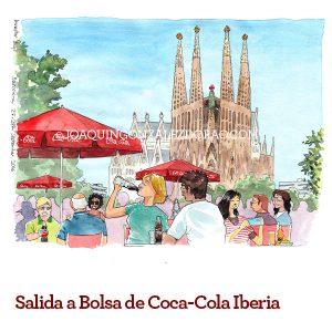 acuarela catedral Coca Cola
