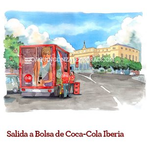 Acuarela camion Coca Cola