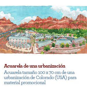 Acuarela urbanizacion
