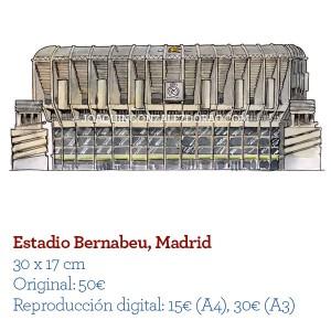 Acuarela EstadioBernabeu