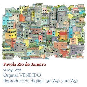 Favela acuarela