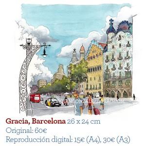ilustrador acuarela Gracia