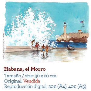 Havana acuarela watercolor Cuba