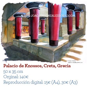ilustrador acuarela Knossos