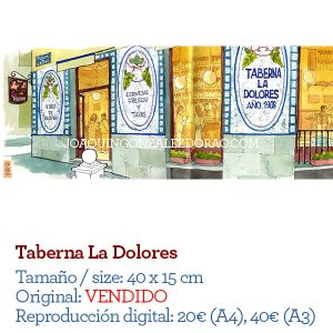 La Dolores acuarela Madrid