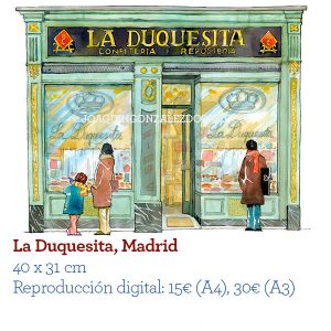 Acuarela Tienda La Duquesita Madrid