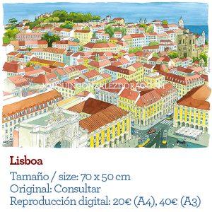 Lisbon watercolor