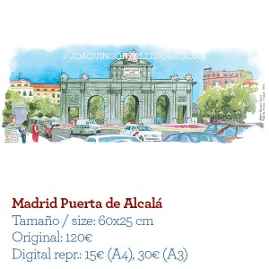 Acuarela Madrid Puerta de Alcala