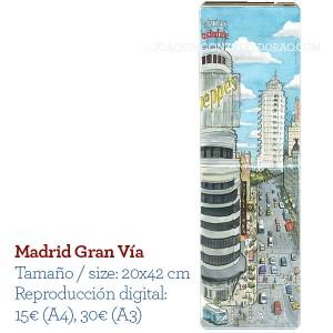 Acuarela Madrid Gran Via