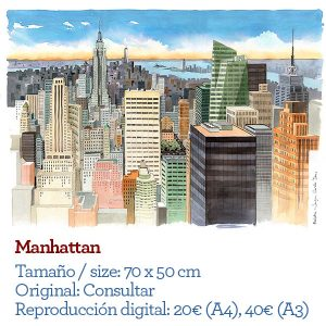 Manhattan watercolor