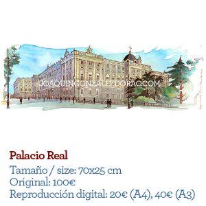 Palacio Real Madrid acuarela