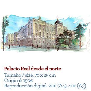 Acuarela del Palacio Real de Madrid