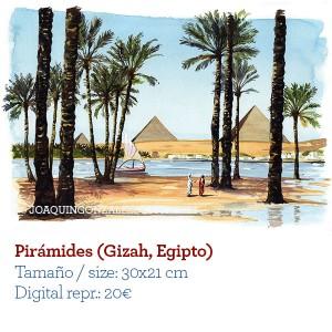 ilustrador acuarela Piramides