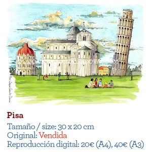 Pisa acuarela watercolor