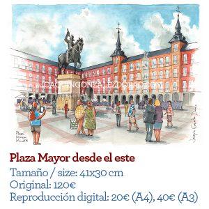 Plaza Mayor Madrid acuarela