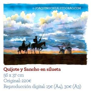 Ilustrador acuarela Quijotesilueta