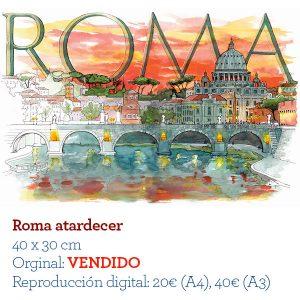 Roma acuarela