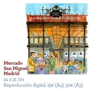 Acuarela mercado SanMiguel