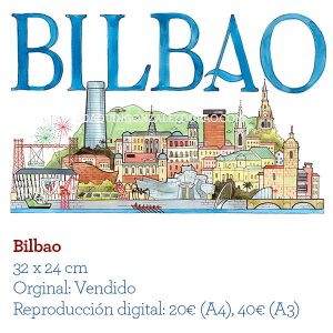 Bilbao acuarela