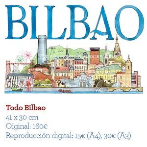 ilustrador acuarela TodoBilbao