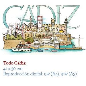ilustrador acuarela TodoCadiz