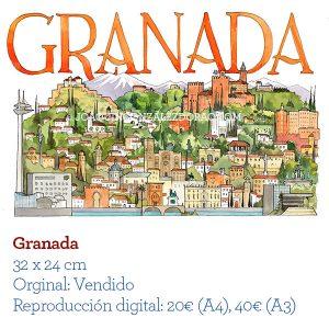 Granada acuarela