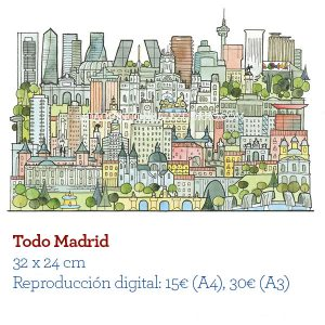 Madrid acuarela