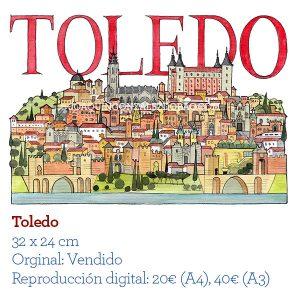 Toledo acuarela