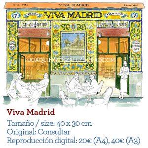Viva Madrid aciuarela bar