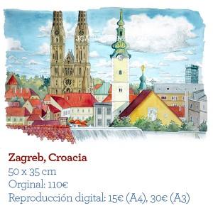 ilustrador acuarela Zagreb