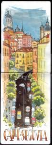 Ilustración Calle Segovia Madrid