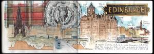 Ilustración Acuarela Edimburgh
