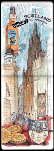 Ilustración Acuarela Edimburgo