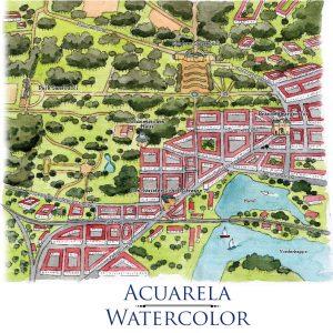 Map watercolor