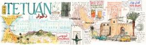 Ilustrador acuarela Madrid Tetuan