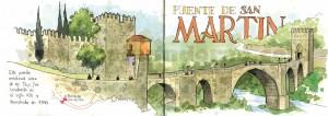 ilustrador acuarela puente san martin