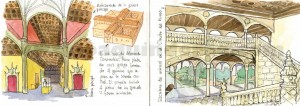 Ilustrador acuarela escalinata