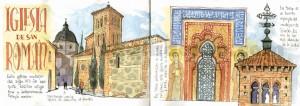 ilustrador acuarela iglesia san roman
