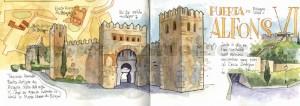 ilustrador acuarela puerta alfonso
