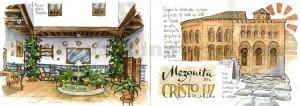 ilustrador acuarela mezquita cristo luz