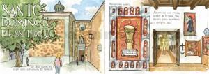 ilustrador acuarela santo domingo antiguo