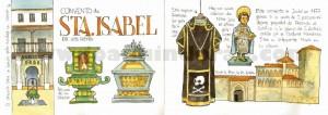 ilustrador acuarela convento de santa isabel
