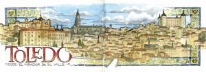 ilustrador acuarela mirador del valle