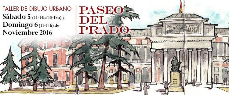 18º Taller de dibujo urbano en Madrid. Paseo del Prado